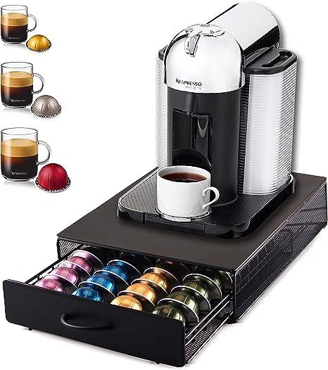 Ever Rich/® Tiroir de rangement pour 40 capsules Nespresso Verto