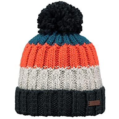 4fd051a99202d Barts Hats Wilhelm Bobble Hat - Grey-Red 1-Size