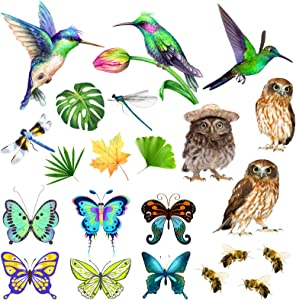 Numuruay Hummingbird Window Clings Colorful Butterfly Window Clings and Doors Window Decals Butterflies Window Decals for Sliding Glass Doors (22)