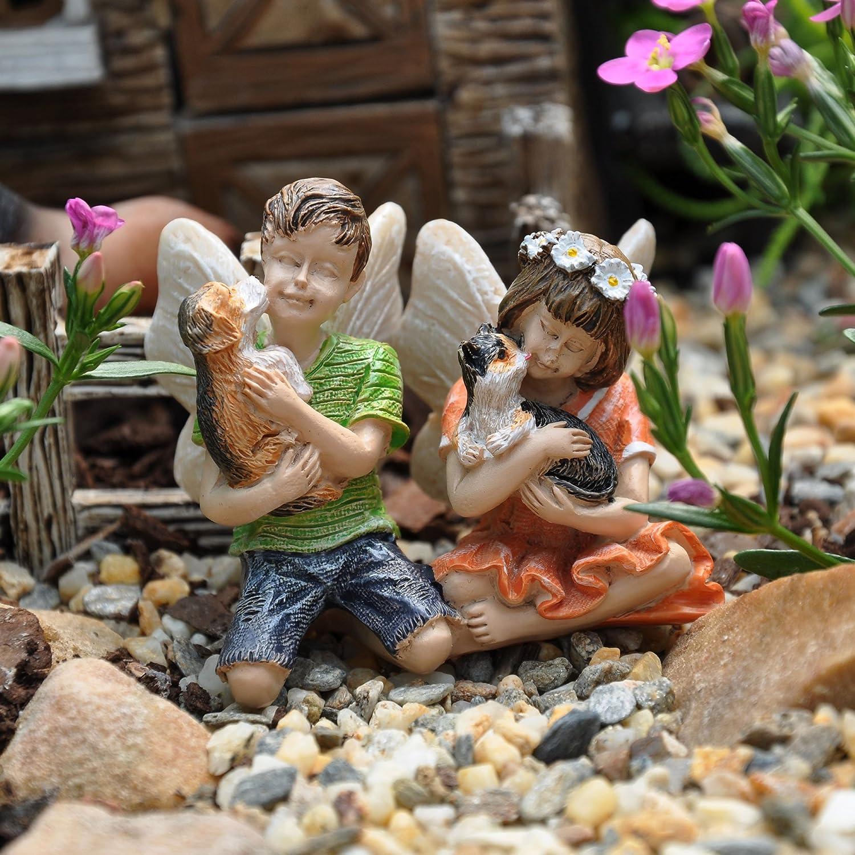 Amazon.com : Miniature Fairy Garden Daisy and Dylan : Garden & Outdoor