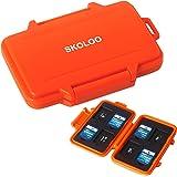 SKOLOO SD Card Case Waterproof Memory Card Holder Micro Storage & Wallet for Card, Orange