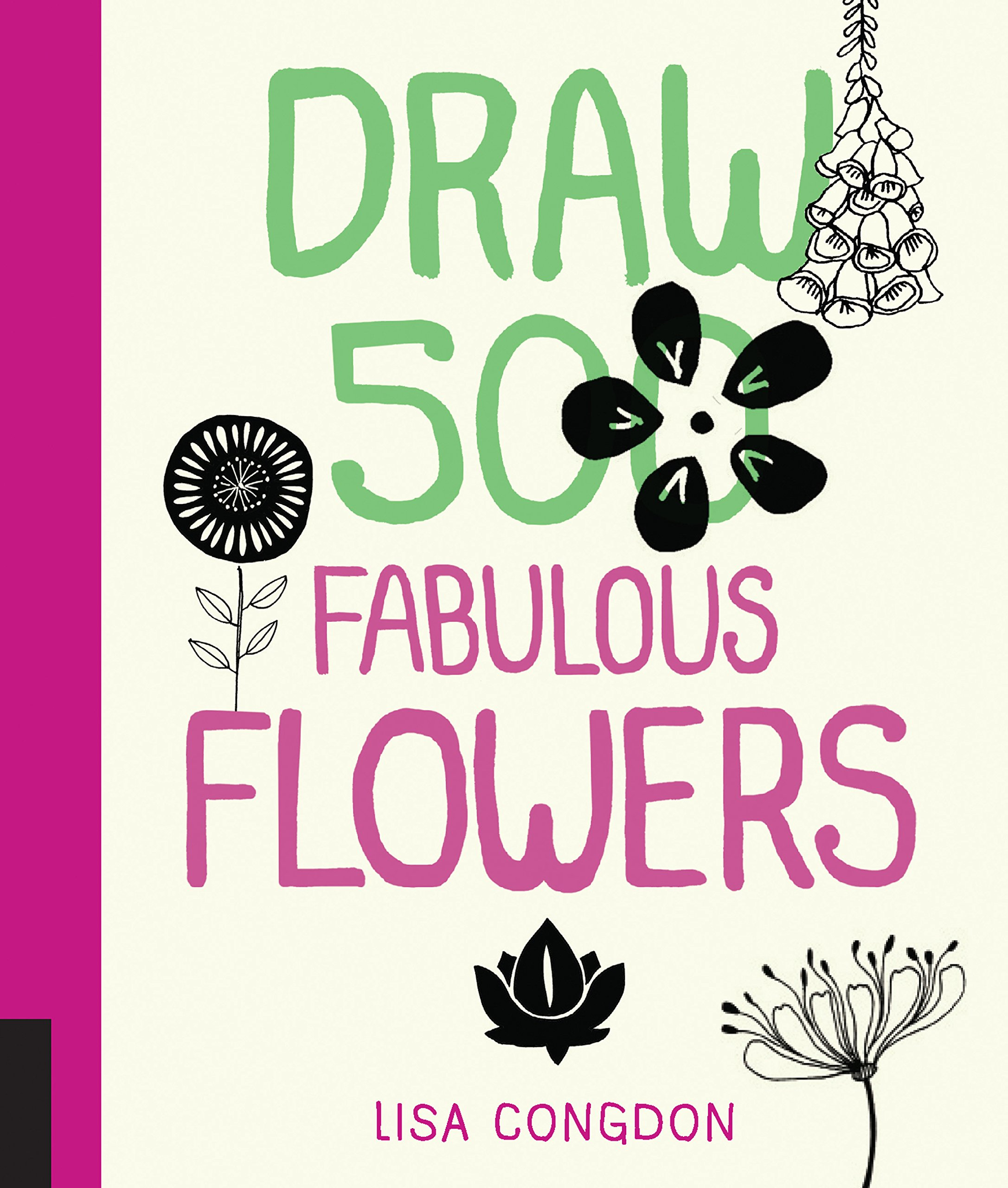 Amazon Com Draw 500 Fabulous Flowers A Sketchbook For Artists