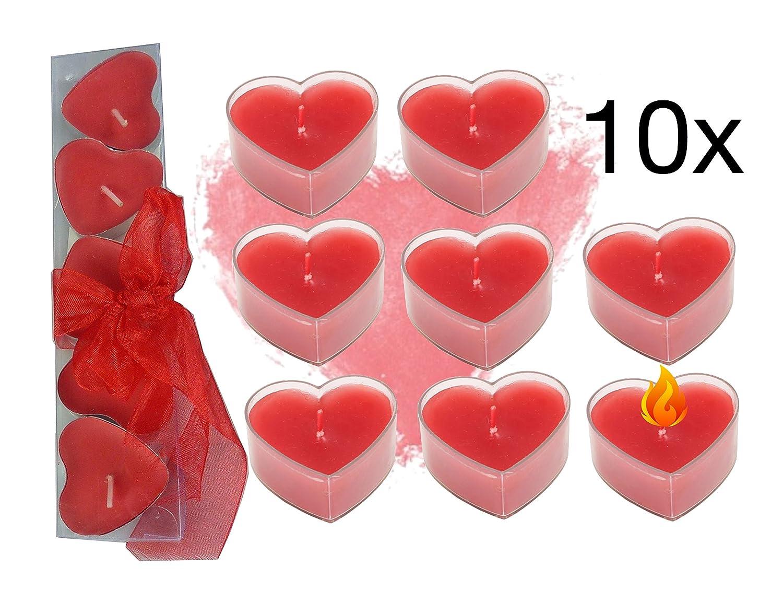 rot rosenice Schwimmkerzen f/ür Hochzeit Geburtstag Party Deko 10/St/ück
