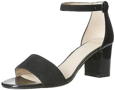 Clarks Women's Susie Deva Black Combi Fashion Sandals - 7 UK/India (41 EU