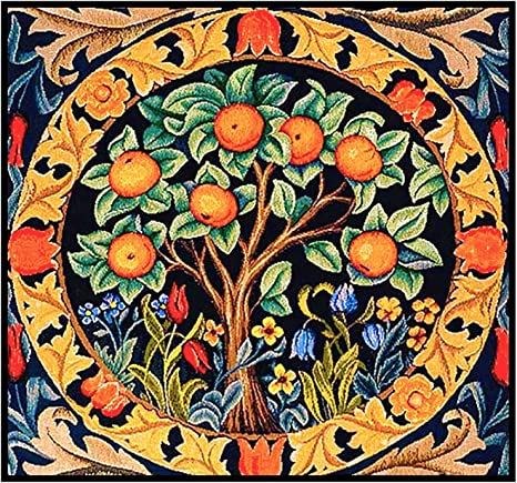 William Morris Orange Tree Detail Design Counted Cross Stitch Pattern