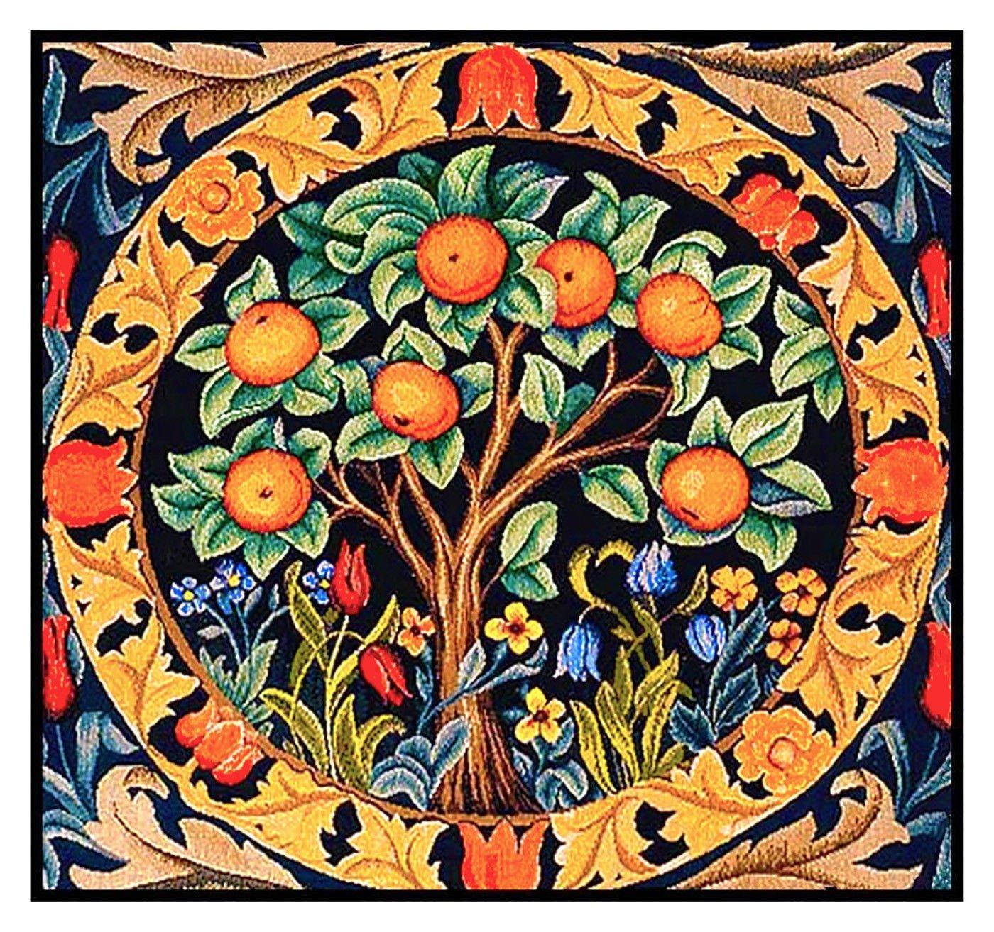 William Morris Orange Tree Detail Design Counted Cross Stitch Pattern Orenco Originals