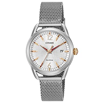 Amazon.com  Citizen Eco-Drive Women s Stainless Steel Watch  Watches 8b623f77480f