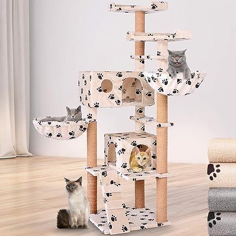 Leopet – Rascador para Gatos Árbol Gato algodón Escalada algodón Gato Muebles 163 cm