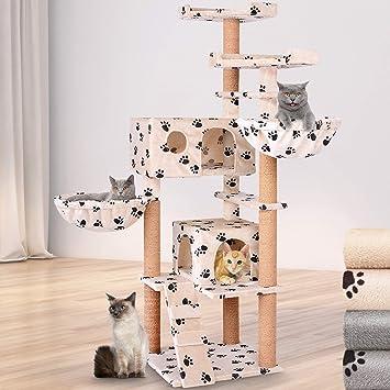Leopet - Rascador para Gatos Árbol Gato algodón Escalada ...