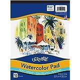 "UCreate Watercolor Pad, 90 lb, 9"" x 12"", 12 Sheets"