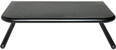 Allsop Metal Art Jr Monitor Stand 14-Inch wide platform holds 40 lbs BLACK PEARL