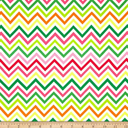 3d8b1dc7c78 Image Unavailable. Image not available for. Color: Kaufman Laguna Stretch  Jersey Knit Zig Zag Pink/Yellow Fabric ...