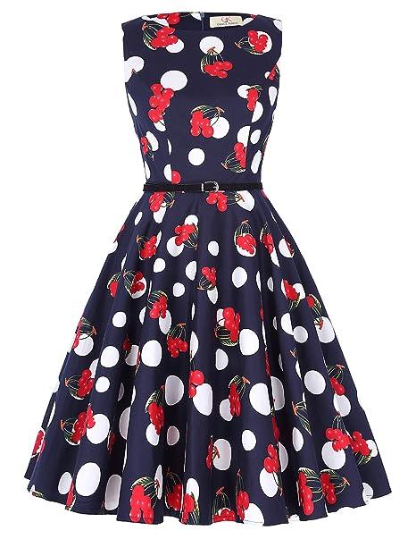 Vestido de la Vendimia para las Mujeres Estilo de los Años 20 Rockabilly Swing Vestido de