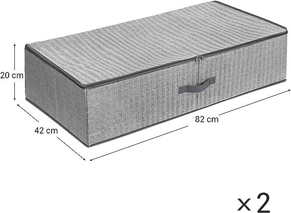 12x33x62 cm Bamb/ú Relaxdays Bolsa Colgante de Almacenaje Gris