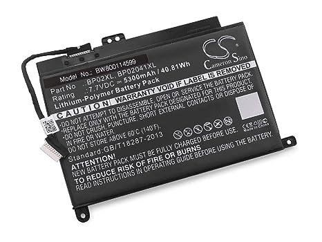 vhbw Litio polímero batería 5300mAh (7.7V) Negro para Ordenador portátil Laptop Notebook HP