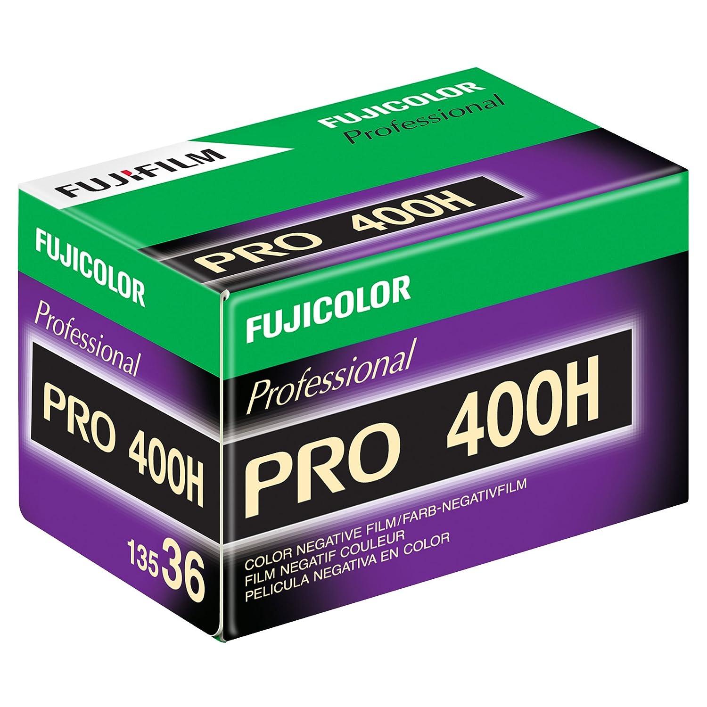 Fujifilm 16326078 pro 400H Color Negative Film 15473707 ISO 400, 35mm, 36 Exposures (Green/White/Purple)