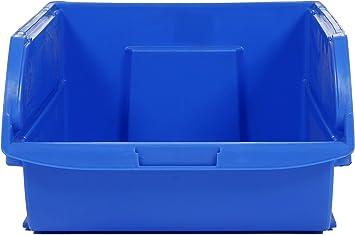 20 x 32,7 x 15,6 cm 056400-015 Espacio para Guardar Cosas de 10 litros Azul Stanley Caja organizadora Abierta