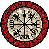 ODIN RAVEN PATCH iron-on VIKING EMBLEM embroidered NORSE MYTHOLOGY NORWAY WHITE