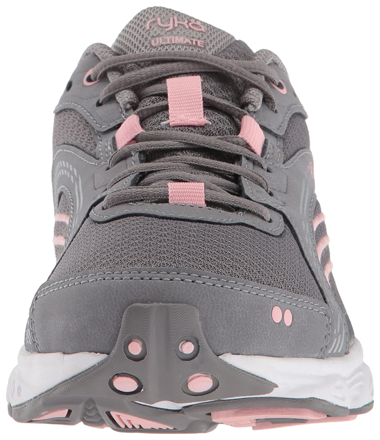 Ryka Women's Ultimate Running Shoe B0757CXYS9 10 W US|Frost Grey/English Rose/Chrome Silver