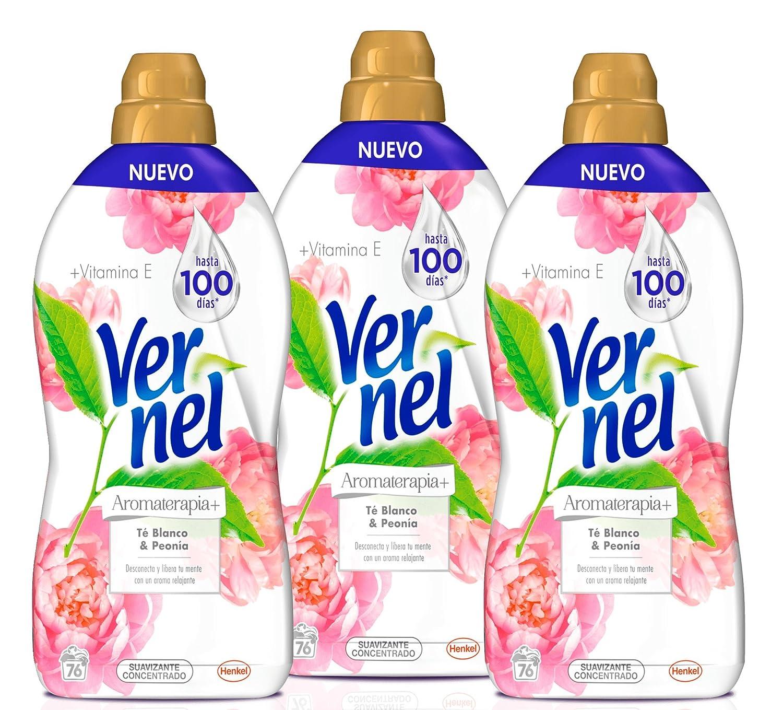 Vernel Aromaterapia Suavizante Concentrado Té y Peonía - Pack de 3 ...