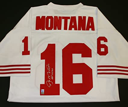 more photos 3d196 e9225 Joe Montana Autographed and Inscribed Jersey at Amazon's ...