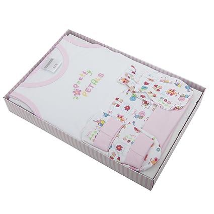 Set de regalo para recién nacido de 4 piezas bordadas (camiseta ...