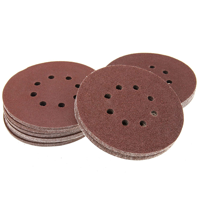 ENET 50pcs 150mm Sander Sanding Discs 40 60 80 100 120 Grit Sandpaper