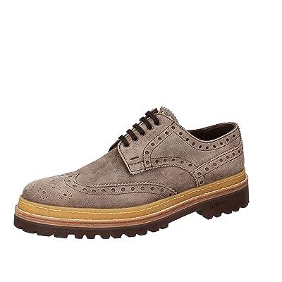LO. WHITE Men's Elegant / Oxford-shoes 7 US / 40 EU Beige Suede AE944