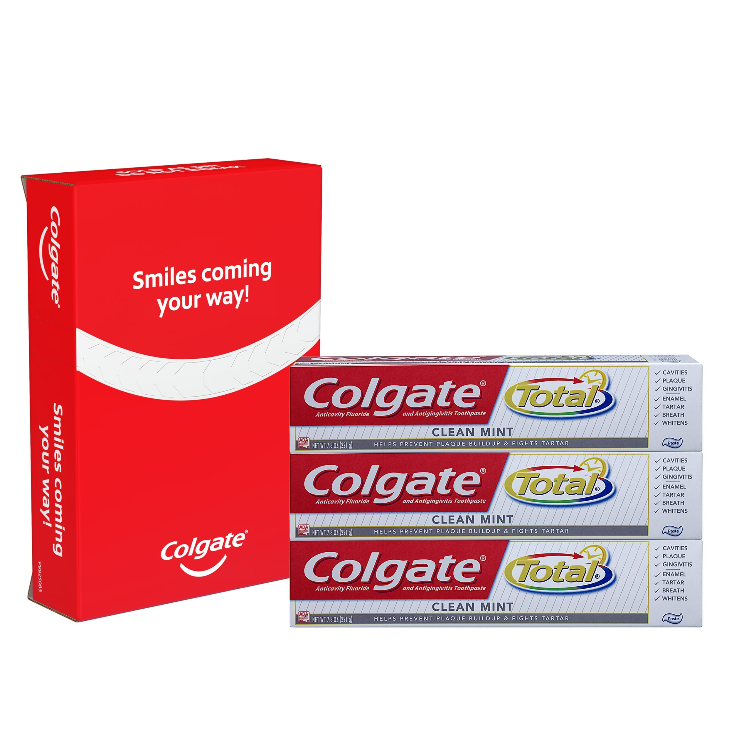 Colgate Total Clean Mint Toothpaste - 7.8 ounce,(Pack Of 3)