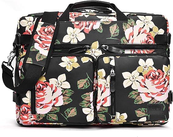 CoolBELL Convertible Backpack Messenger Bag Floral Shoulder Bag