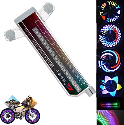 x4 Bike Bicycle Cycling Wheel Tire Wire Tyre Bright LED 3 FUNCTION Light Lamp