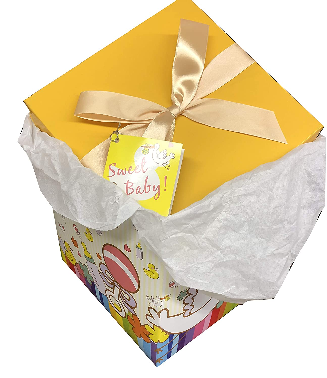 EndlessArtUS Petit Bebe EZ Gift Box. Easy to Assemble and No Glue Required. (4x4) BX-120-Par