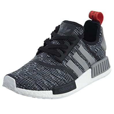 adidas Originals Men's NMD_R1 Glitch Graphic Core Black/Dark Grey Heather Solid Grey/Core
