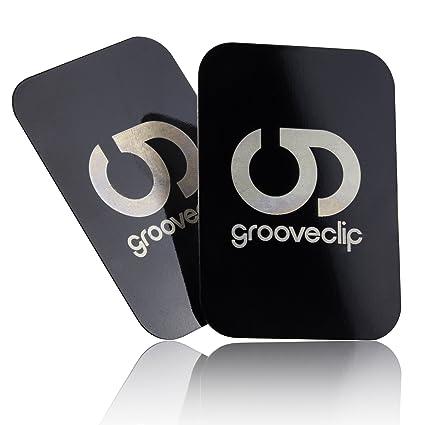 Grooveclip Metallplättchen Set Für Magnet Kfz Halterungen 2er Ersatzzusatz Set Für Handy Und Navi Metall Platten Mit 3m Klebe Folie Für