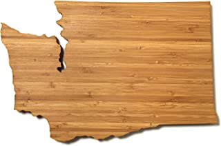 """product image for AHeirloom: The Original Washington State Shaped Serving & Cutting Board. (As Seen in O Magazine, Good Morning America, Real Simple, Brides, Knot.) Made in the USA from Organic Bamboo, Large 15"""""""