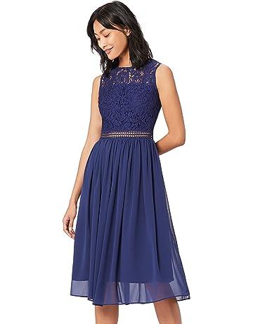 0c10200904259 TRUTH   Fable Lace Trim Bridesmaid Midi Hochzeitskleid