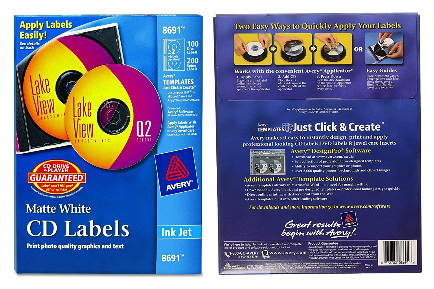 Amazon avery cd labels 100 disc labels 200 spine labels amazon avery cd labels 100 disc labels 200 spine labels 8691 printer labels office products saigontimesfo