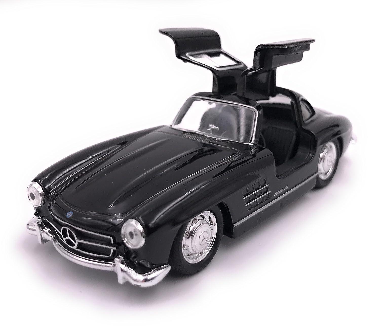 H-Customs Mercedes Benz 300 SL Modellauto Auto Lizenzprodukt 1:34-1:39 Schwarz