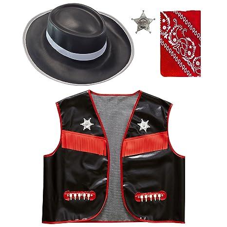 WIDMANN 42.891 - Costume Bambino Set Gilet da Cowboy 20aaf216a071