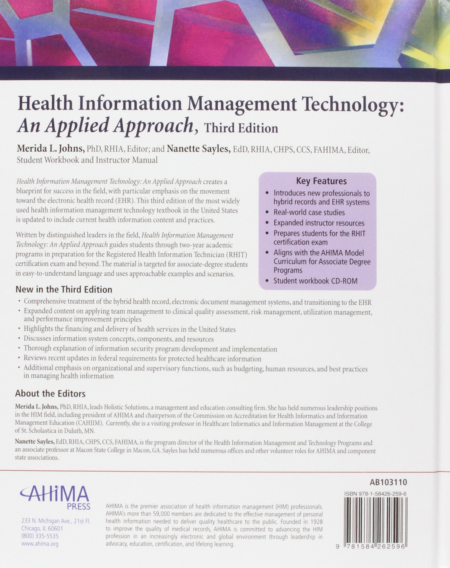 Health information management technology an applied approach health information management technology an applied approach merida l johns 9781584262596 family general practice amazon canada 1betcityfo Images