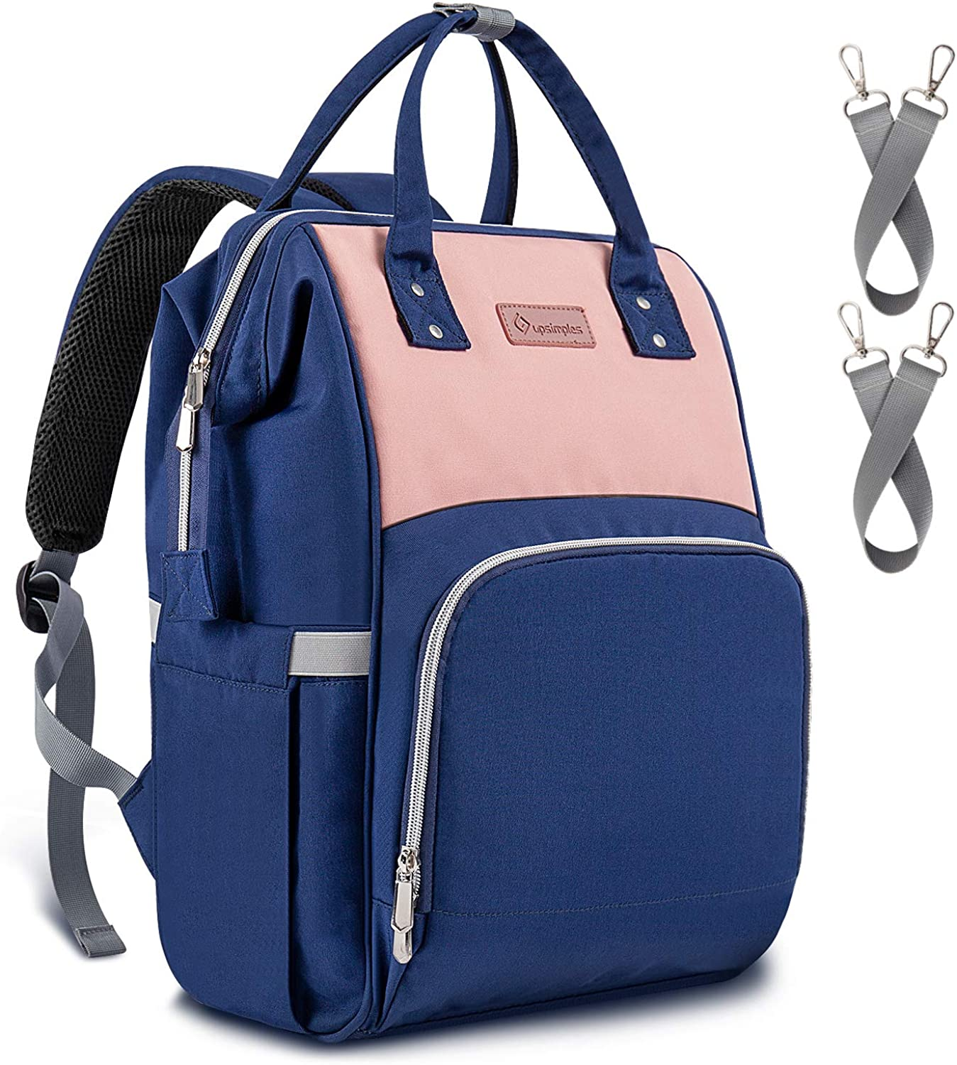 Diaper Bag Backpack Upsimples Baby Bags with USB Charging Port