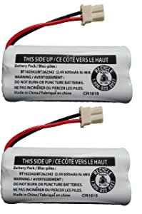 Replacement Battery BT162342 / BT262342 for Vtech AT&T Cordless Telephones CS6114 CS6419 CS6719 EL52300 CL80111 (2-Pack)