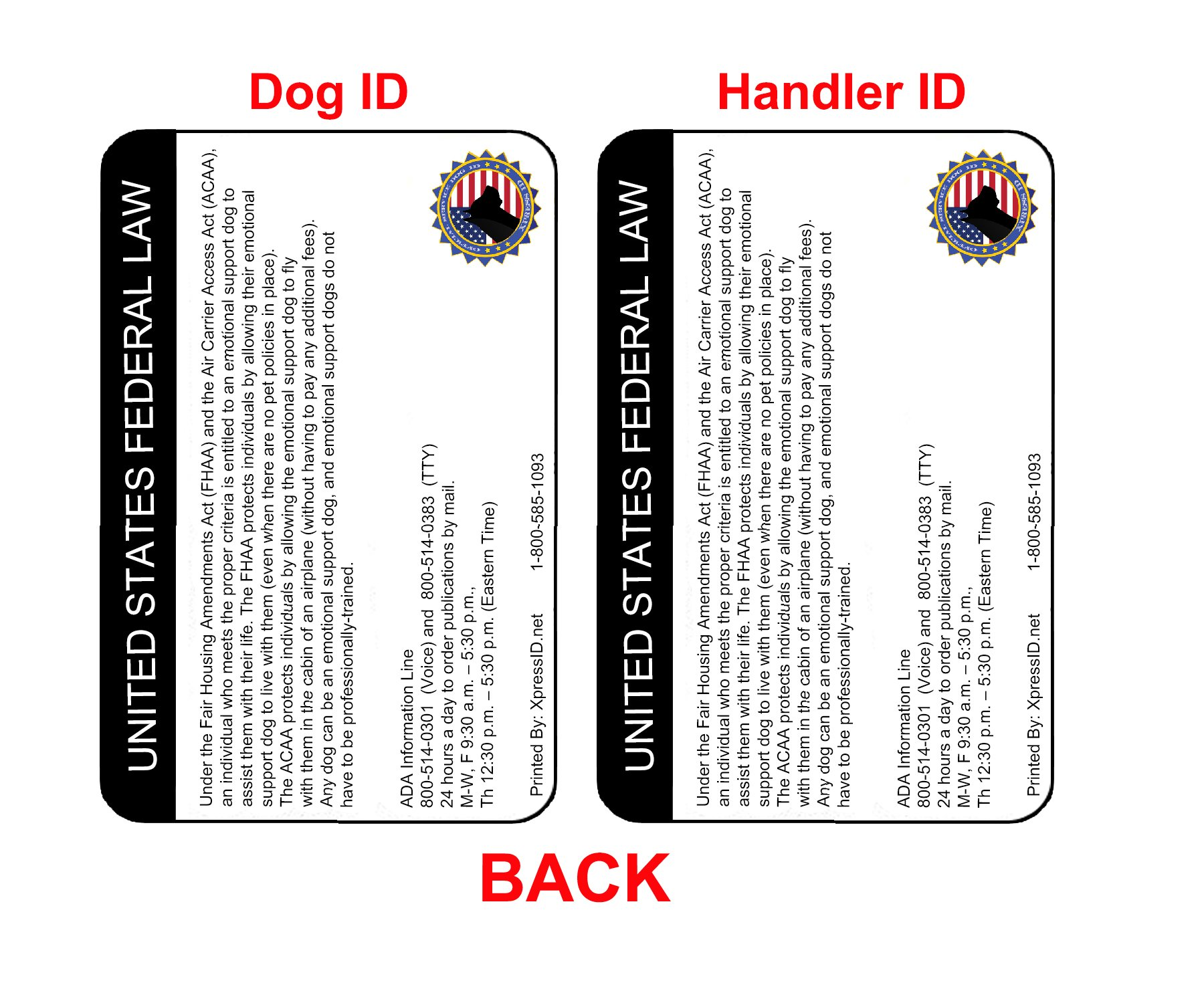 XpressID Holographic Emotional Support Dog & Handler ID Card   Includes Registration to National Dog Registry by Xpress ID (Image #2)