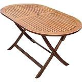 Bentley Garden - Table de jardin ovale pliable - bois