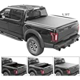 TURBO SII Soft Tri-Fold Vinyl Truck Bed Tonneau Cover | Fits Dodge Ram 2009-2018 (5 ft 7 in bed) | 5 Years Warranty | Instructions Included