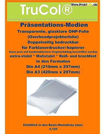 fogli trasparenti di pellicola OHP in formato A4 per stampante laser e fotocopiatrice A3 x 50 Sheets Uinkit Lucidi per lavagna luminosa