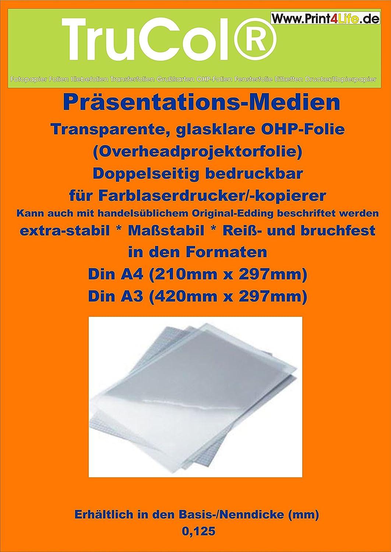 100 hojas A3 CLEAR / Cristal transparente hoja OHP claro para la ...
