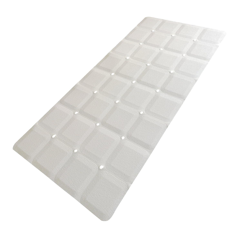 Sultan\'s Linens Foldable Non Slip Rubber Bath Mat for Textured Tub and Reglazed Tub 28x14 White