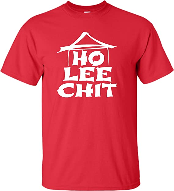 Amazon Adult Ho Lee Chit Holy Sht Funny Graphic T Shirt Clothing