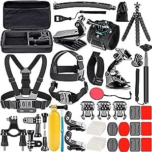 NEEWER 50-In-1 Action Camera Accessory Kit for GoPro 8 GoPro Hero 7 6 5 4 Hero Session 5 Apeman DJI OSMO Action SJ6000 DBPOWER AKASO VicTsing Rollei Lightdow